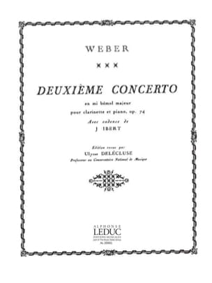 Carl Maria von Weber - Concerto Clarinette n° 2 mib majeur op. 74 - Partition - di-arezzo.fr
