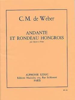 Carl Maria von Weber - Andante and Hungarian Rondo op. 35 - Partition - di-arezzo.com
