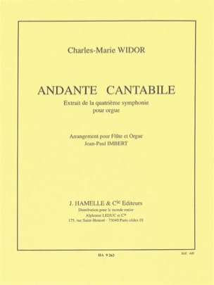 Widor Charles-Marie / Imbert Jean-Paul - Andante cantabile - Partition - di-arezzo.fr