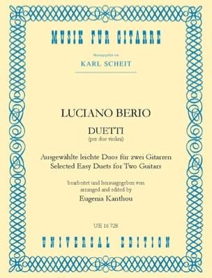 Luciano Berio - Duetti –2 Gitarren - Partition - di-arezzo.fr