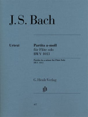 BACH - Partita in A minor BWV 1013 per flauto solo - Partitura - di-arezzo.it