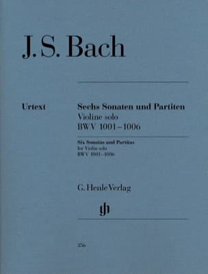 BACH - Sonatas and Partitas BWV 1001-1006 for solo violin - Sheet Music - di-arezzo.co.uk