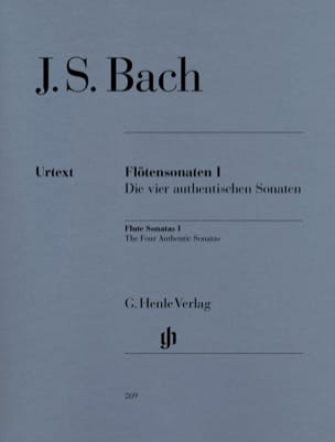BACH - Sonatas for flute, volume 1 - Sheet Music - di-arezzo.co.uk