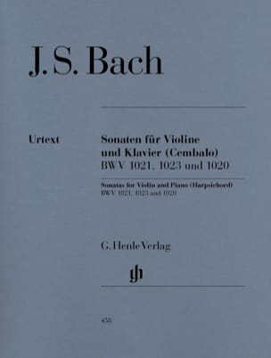 BACH - Violin sonatas BWV 1020, 1021,1023 - Sheet Music - di-arezzo.co.uk