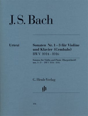 BACH - Violin Sonatas No. 1-3 BWV 1014-1016 ----- Sheet Music - di-arezzo.co.uk