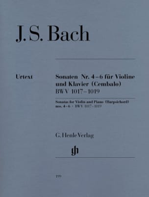 BACH - Violin Sonatas No. 4-6 - Sheet Music - di-arezzo.com