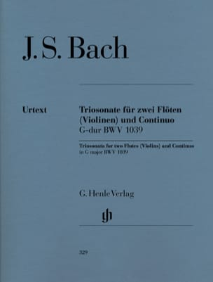 BACH - Sonata in trio in G major BWV 1039 for two flutes and basso continuo - Sheet Music - di-arezzo.com