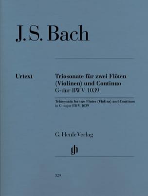 Sonate en trios en Sol majeur BWV 1039 pour deux flûtes et basse continue laflutedepan