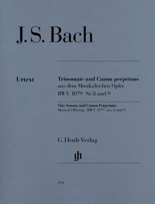 BACH - Trio Sonata and Canon Perpetuus from the BWV 1079 Musical Offering n ° 8 and 9 - Sheet Music - di-arezzo.co.uk