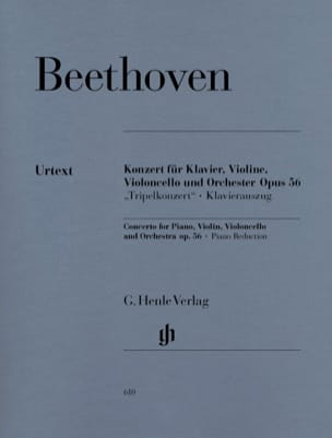 BEETHOVEN - Concerto in C major op. 56 for piano, violin, cello and orchestra - Sheet Music - di-arezzo.com