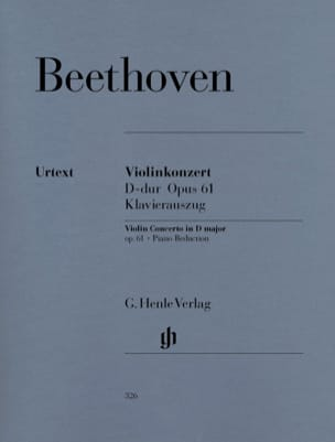 Ludwig van Beethoven - Violinkonzert D-dur op. 61 - Partition - di-arezzo.fr