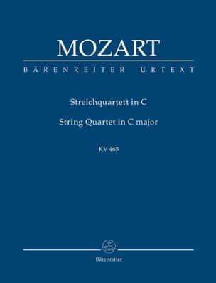 MOZART - Streichquartett C-Dur, Kv 465. Urtext Der Neuen Mozart-Ausgabe - Partition - di-arezzo.fr