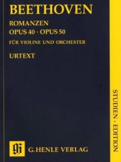 Ludwig van Beethoven - Romances pour violon en Sol majeur op. 40 et en Fa majeur op. 50 - Partition - di-arezzo.fr