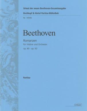 Ludwig Van Beethoven - Romanzen für Violine op. 40 und op. 50 - Partition - di-arezzo.fr