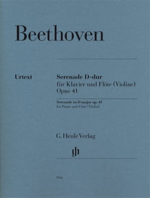 BEETHOVEN - Serenade - Opus 41 for piano and violin flute - Sheet Music - di-arezzo.com