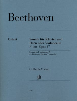 BEETHOVEN - Sonata for horn or cello in F major op. 17 - Sheet Music - di-arezzo.co.uk