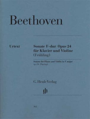 BEETHOVEN - Violin Sonata in F major Opus 24 - The Spring - Partition - di-arezzo.co.uk