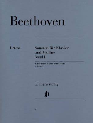BEETHOVEN - Sonatas for violin, volume 1 - Sheet Music - di-arezzo.co.uk