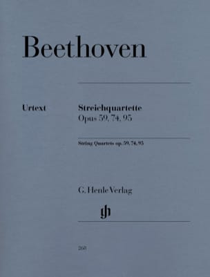 BEETHOVEN - String quartets op. 59, 74, 95 - Sheet Music - di-arezzo.co.uk