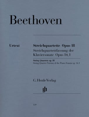 BEETHOVEN - String quartets op. 18 No 1-6 - Partition - di-arezzo.com
