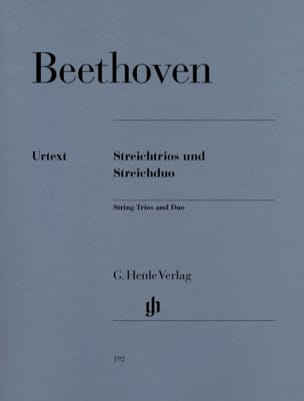 BEETHOVEN - String Trios op. 3, 8 and 9 and WoO 32 string duo - Sheet Music - di-arezzo.co.uk