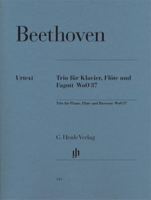 BEETHOVEN - Trio with flute in G major WoO 37 for piano, flute and bassoon - Sheet Music - di-arezzo.com