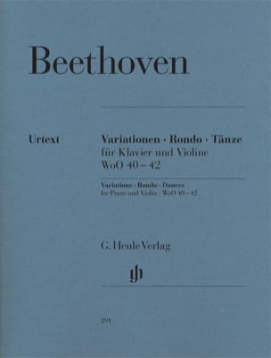BEETHOVEN - Variations, Rondo, Dances for piano and violin - Sheet Music - di-arezzo.com