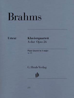 BRAHMS - Quartet with piano in A major op. 26 - Sheet Music - di-arezzo.com