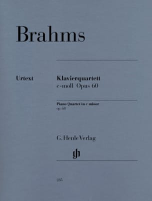 BRAHMS - Quartet with piano in C minor op. 60 - Sheet Music - di-arezzo.co.uk