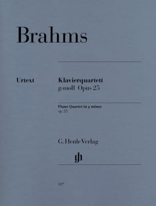 BRAHMS - Quartet with piano in G minor op. 25 - Sheet Music - di-arezzo.co.uk