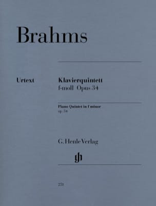 BRAHMS - Quintet with piano in F minor op. 34 - Sheet Music - di-arezzo.co.uk