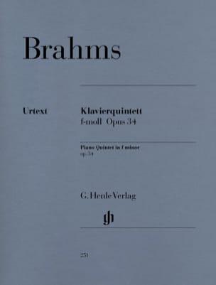 BRAHMS - Quintette avec piano en fa mineur op. 34 - Partition - di-arezzo.fr