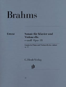 BRAHMS - Sonata op. 38 SOLD OUT - Sheet Music - di-arezzo.com
