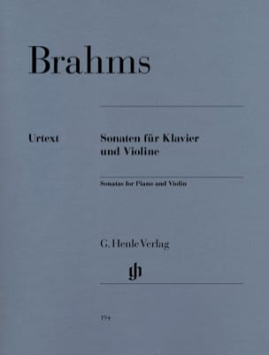 BRAHMS - Violin sonatas - Sheet Music - di-arezzo.co.uk