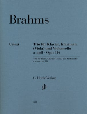 BRAHMS - Trio in A minor op. 114 for piano, clarinet (or viola) and cello - Sheet Music - di-arezzo.co.uk