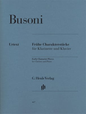 Ferruccio Busoni - Youth Character Pieces for Clarinet and Piano First Edition - Sheet Music - di-arezzo.co.uk