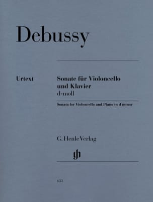 DEBUSSY - Sonata for cello and piano d minor - Sheet Music - di-arezzo.co.uk