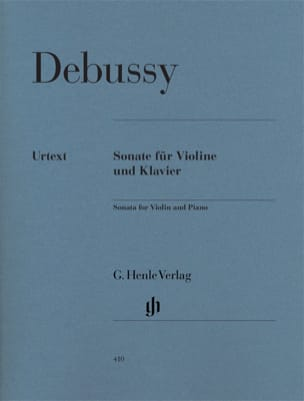 DEBUSSY - Sonata for violin and piano - Sheet Music - di-arezzo.co.uk