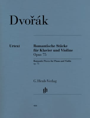 Antonin Dvorak - Romantic rooms op. 75 for piano and violin - Sheet Music - di-arezzo.co.uk