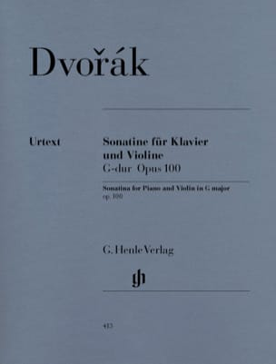 DVORAK - Sonatine for violin in G major op. 100 - Sheet Music - di-arezzo.co.uk