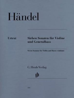 HAENDEL - 7 Sonate per violino e basso continuo - Partitura - di-arezzo.it