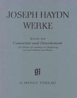 HAYDN - Concertini - Divertimenti para Klavier Cembalo 2 Violinen und BC - Partitura - di-arezzo.es