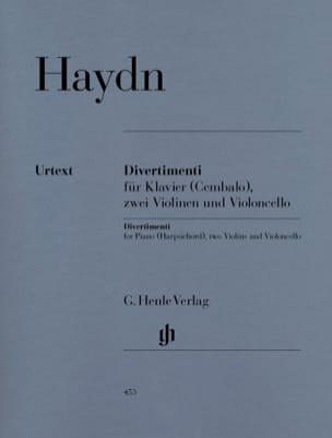 HAYDN - Divertimenti pour piano clavecin avec deux violons - Partition - di-arezzo.fr
