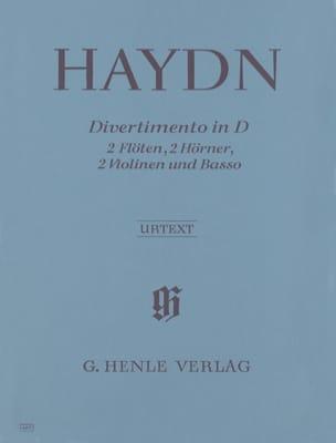 HAYDN - Divertimento en D-Dur - 2 Flöten 2 Hörner 2 Violinen Basso - Partitur Stimmen - Partitura - di-arezzo.es