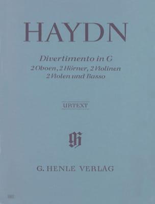 Divertimento G-Dur - 2 Oboen-2 Hörner-2 Violinen-2 Violen-Basso laflutedepan