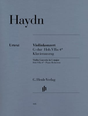 HAYDN - Violin Concerto in G major - Partition - di-arezzo.com