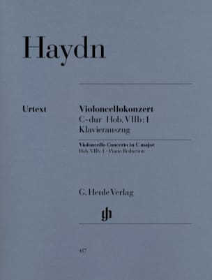 HAYDN - C Major Cello Concerto Hob. VIIb: 1 - Sheet Music - di-arezzo.co.uk