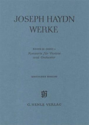 Konzerte - Kritischer Bericht - Joseph Haydn - laflutedepan.com