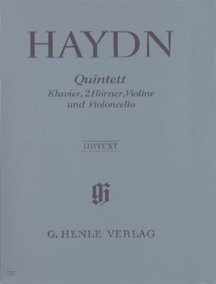 HAYDN - Quintett Es-Dur - Violonchelo Klavier 2 Hörner Violine - Partitura - di-arezzo.es