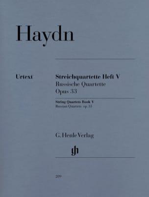 HAYDN - Quatuors à cordes volume V, op. 33 Quatuors russes - Partition - di-arezzo.fr